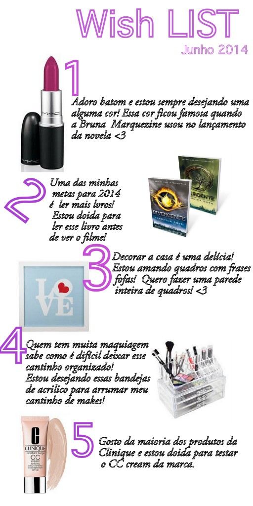 Wish list: Junho 2014